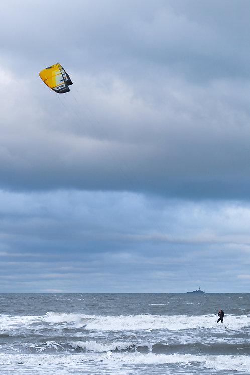 Wind surfer, North beach, Rush, 2020.