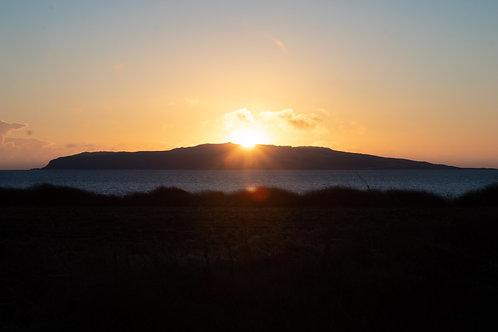 Sunrise over Lambay Island, 2020