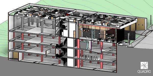 Recorte 3D do projeto em BIM para o Ibiza
