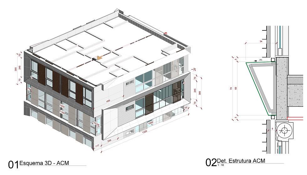 Projeto de fachada em ACM em BIM para o Ibiza