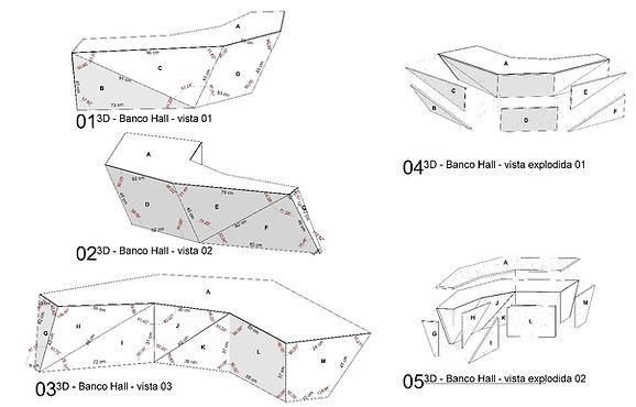 Detalhes banco de pedra - Usando BIM
