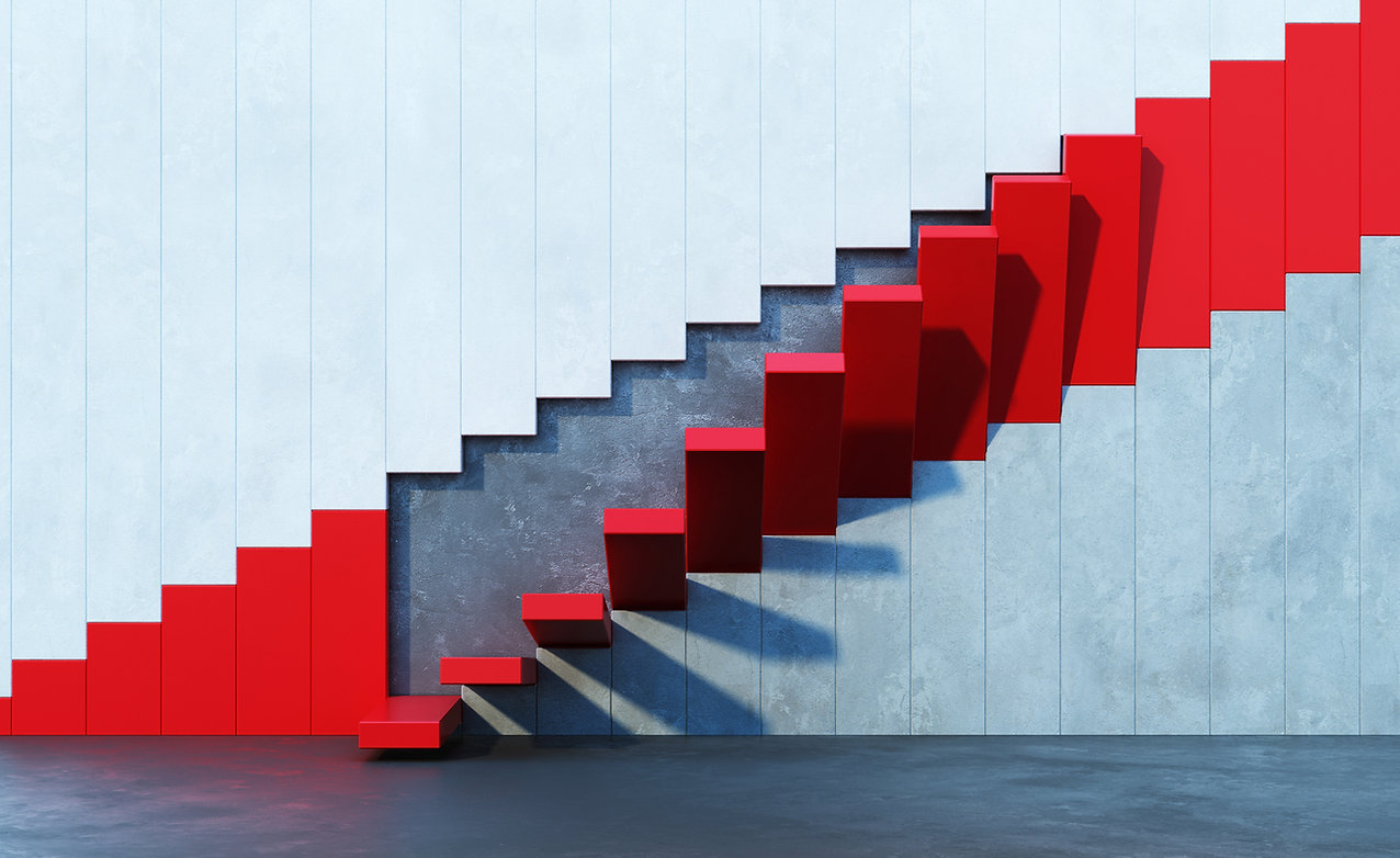 Creative staircase showing possibilities