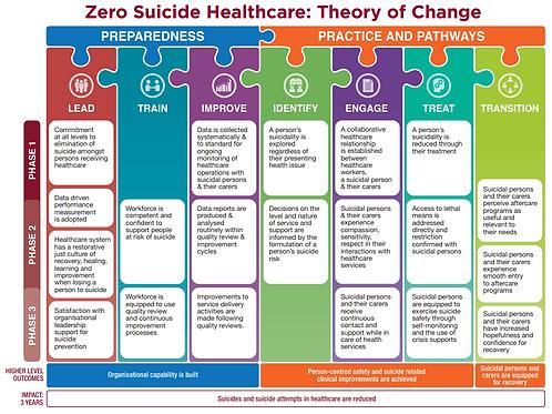 Zero Suicide Healthcare Evaluation Framework