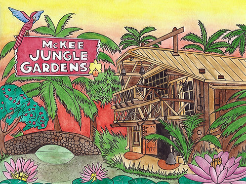 """McKee Jungle Gardens"" Fine Art Print"
