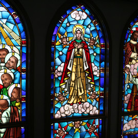 Stained Glass of the Cabrini Shrine