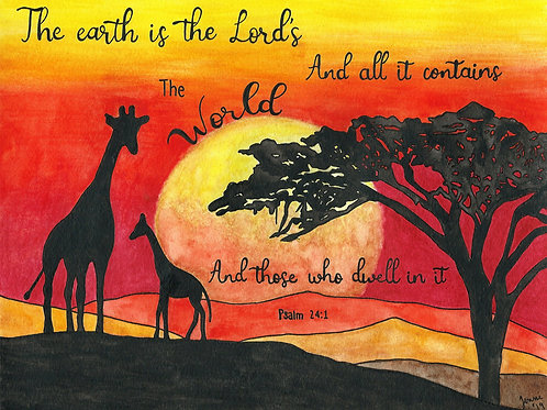 """""""The Earth is the Lord's"""" Fine Art Print"""