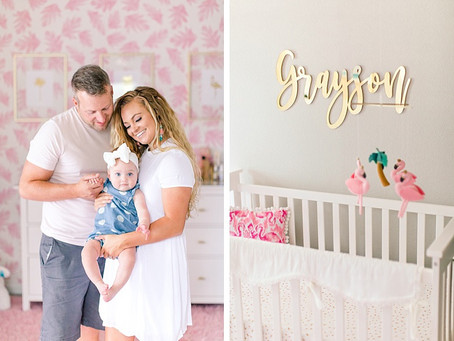 Grayson's Flamingo Tropical Nursery Reveal