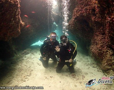 Mergulho com Casal nota 10 - Aloha Divers Okinawa