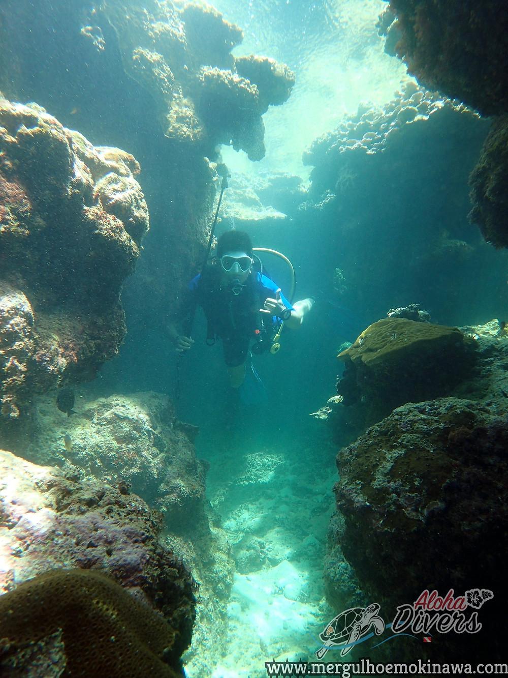 Fun Diver in Kerama - Aloha Divers Okinawa - Mergulho em Okinawa