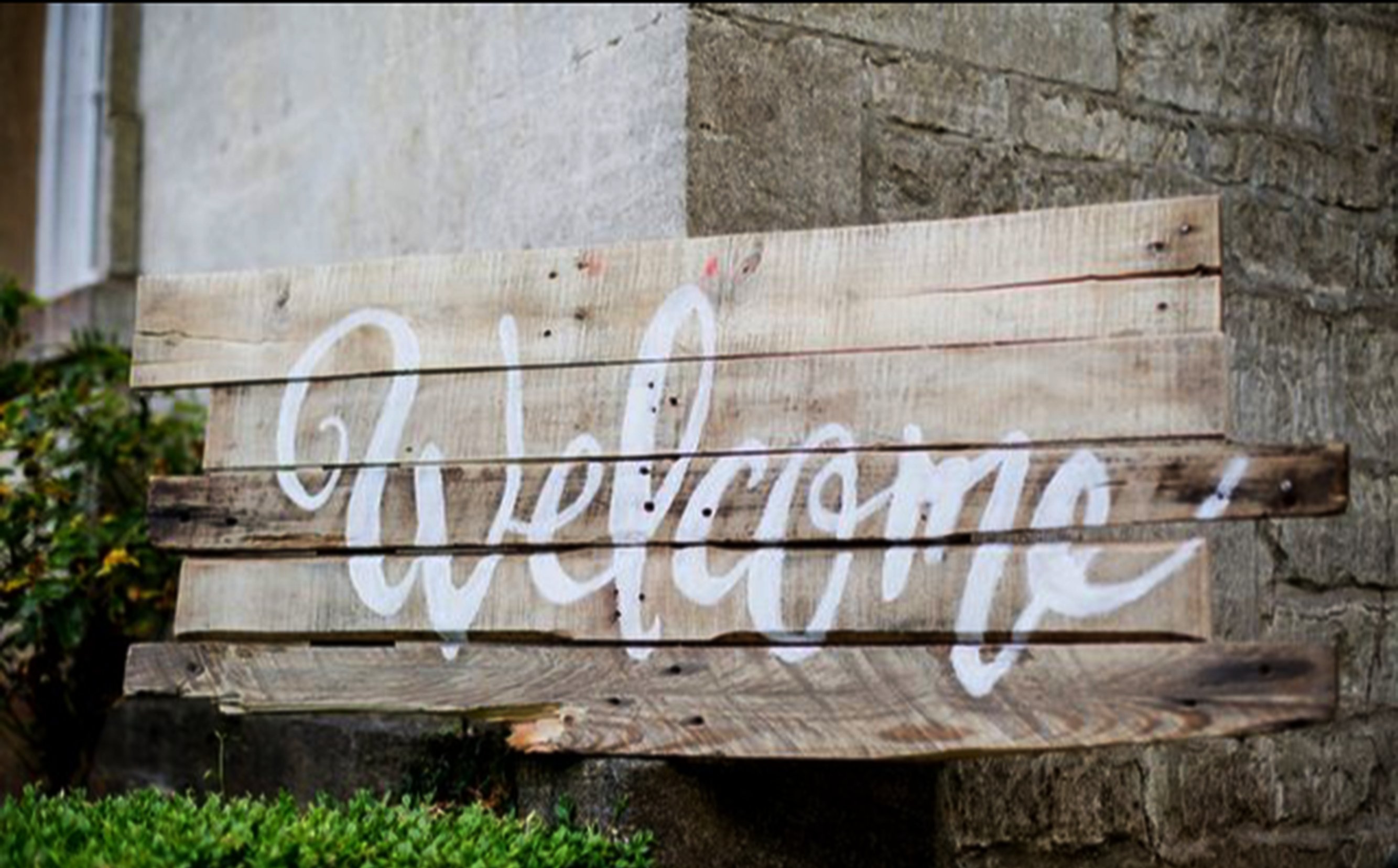 Hand made Welcome Sign