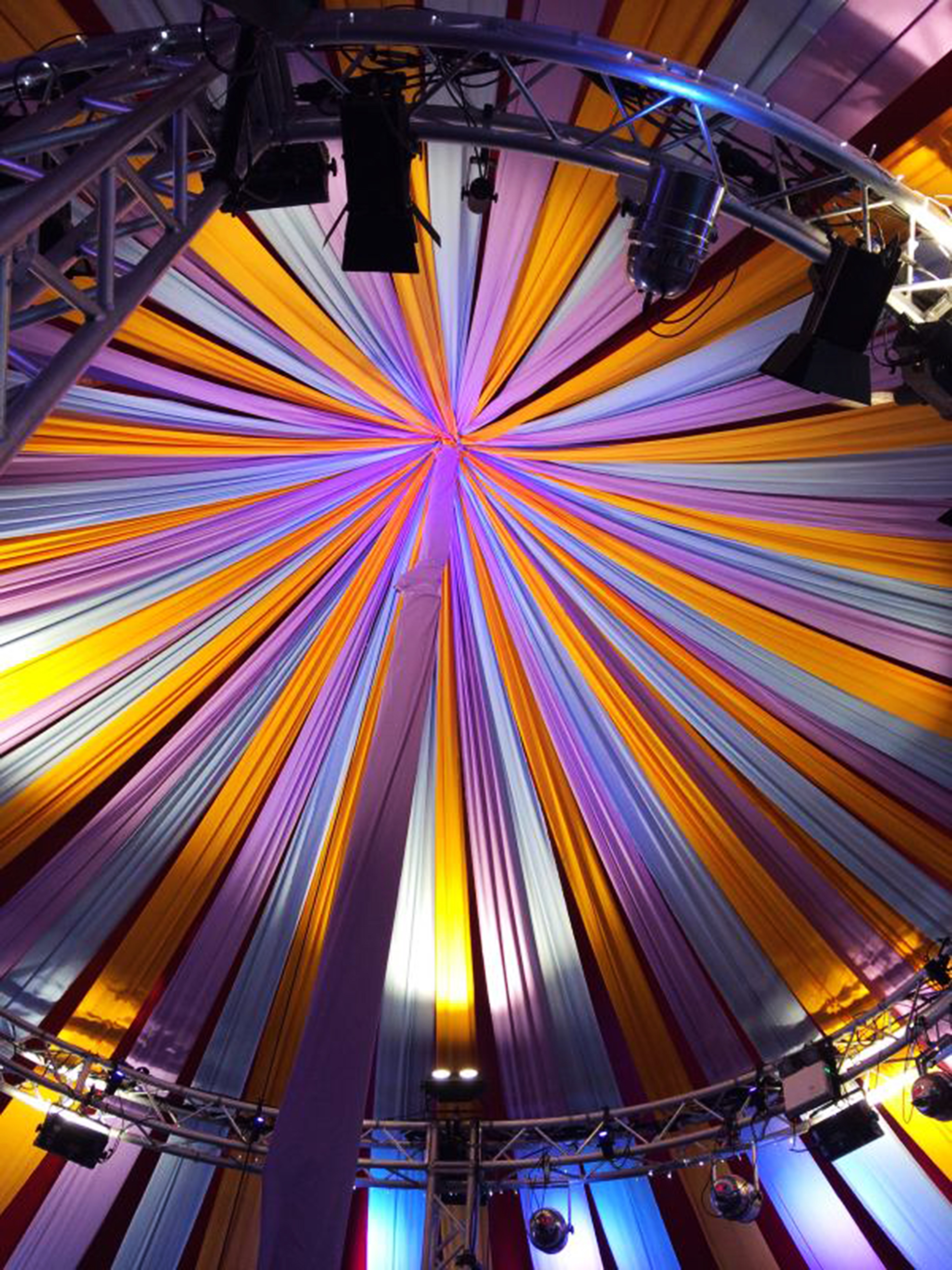 Circus inspired ceiling.