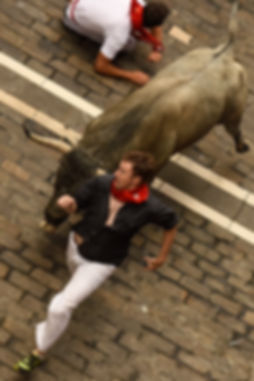Dennis Clancey Rull Runner, Bull Run Expert Running with the Bulls in Pamplona Spain 2015