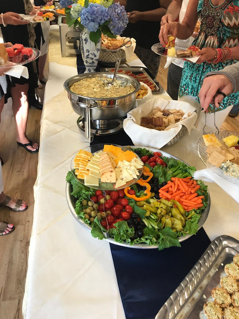 Party buffet spread