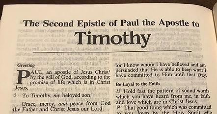 2 Timothy bible page