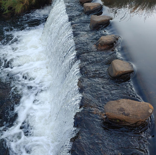 Weir on the river - one of many!
