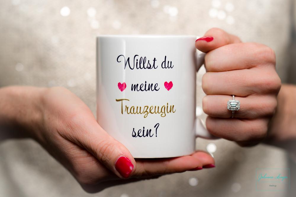 Willst du meine Trauzeugin sein? Kaffeehäferl Dawanda, Johanna Langer Weddings
