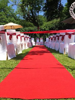 Roter Teppich Johanna Langer Weddings Hochzeitsdekoration Leihdekoration Hochzeit