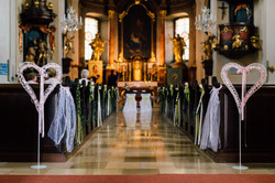 Johanna Langer Weddings Dekoverleih Hochzeitsdekoration Herz Kirche Standesamt