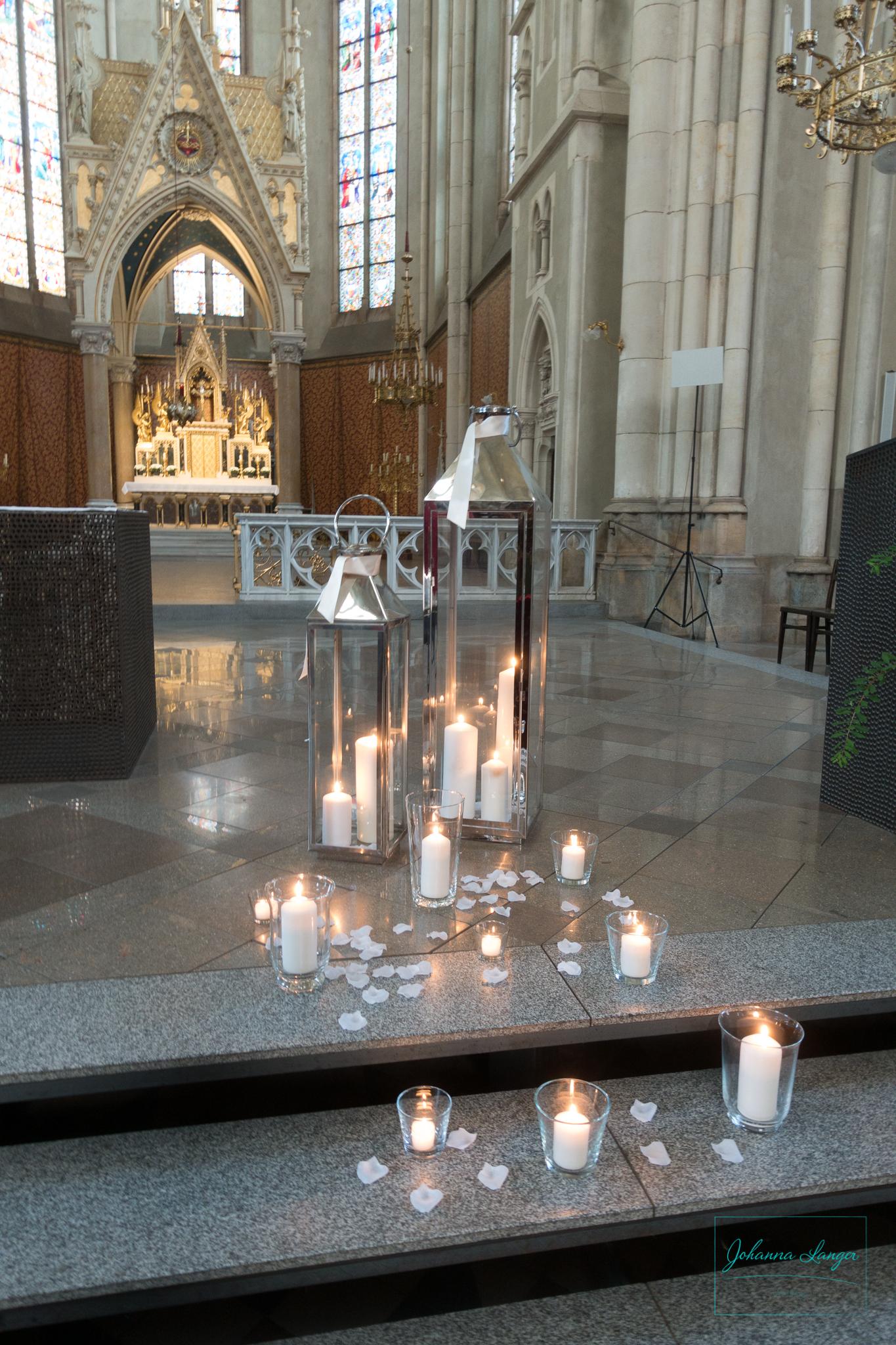 Johanna Langer Weddings Dekoverleih Hochzeitsdekoration Herz Kirche Standesamt Laternen Teelichter K