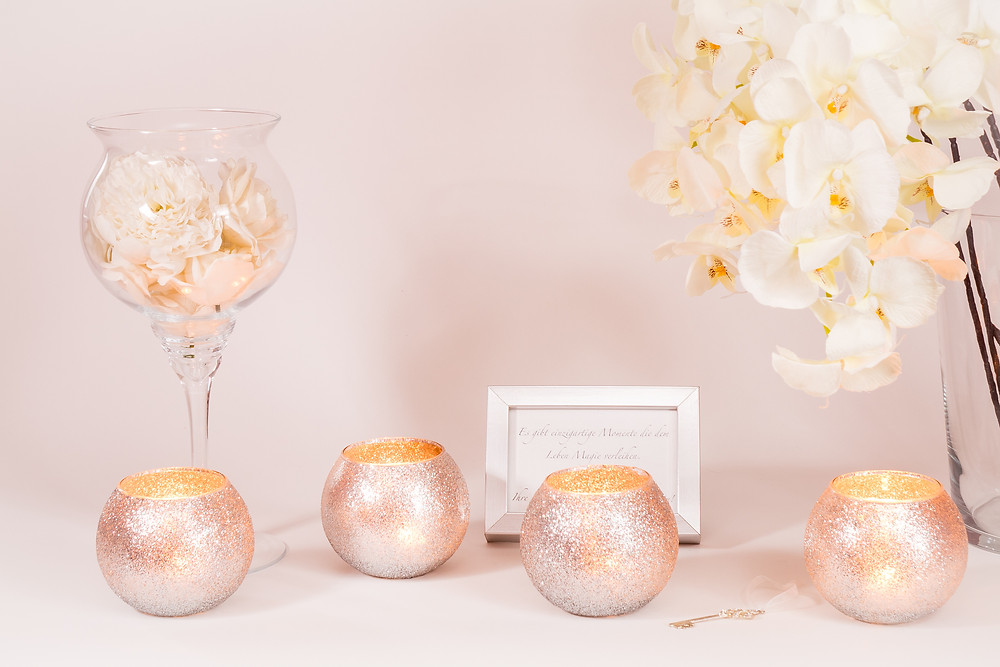 Glitterkugelgläser - Dekoration zum Leihen Johanna Langer Weddings - Hochzeitsplanung