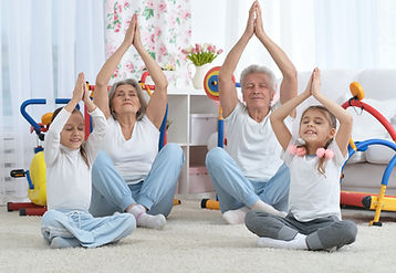 grandparents  and  granddaughters doing exercise.jpg