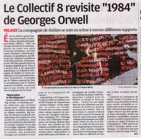 La Provence nous parle de 1984