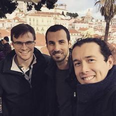 Lisboa, junto a Ender Vielma y Renaud Côté-Giguère