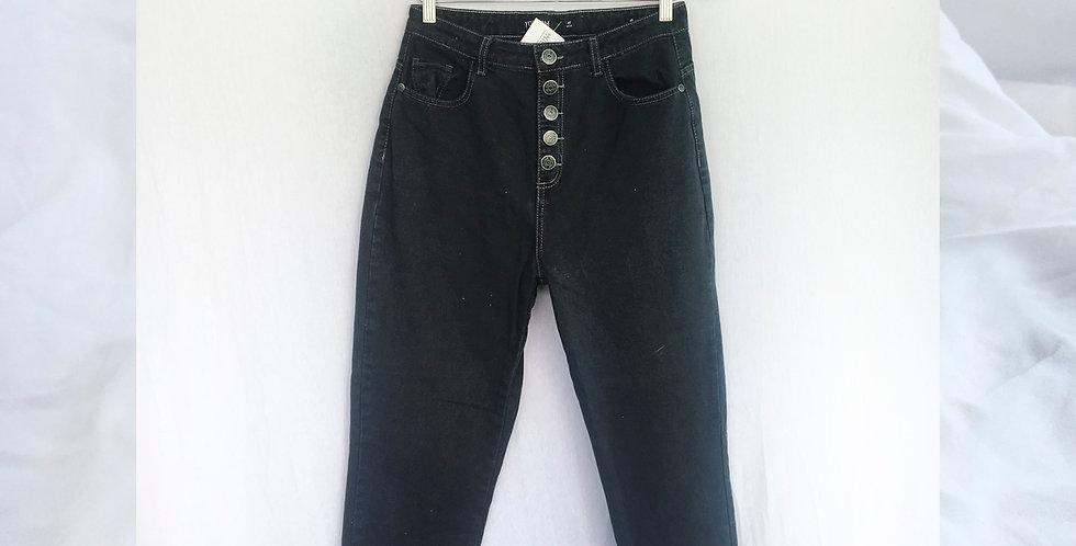 Mom Jeans Preta Deusa