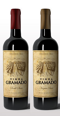 Kit 2 vinhos Suaves Vinha Gramado
