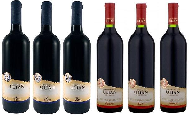 Kit 6 Vinhos Tintos Ulian Serra Gaúcha