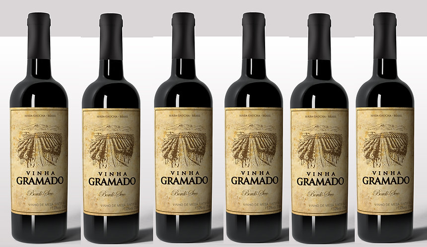 Kit 6 vinhos Vinha Gramado Tinto Seco