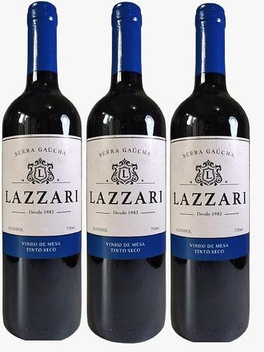 Kit 3 Vinhos Lazzari Tinto Seco
