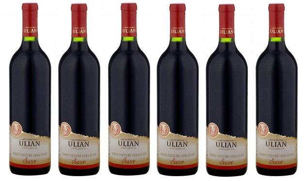 Kit 6 Vinhos Tinto Suave Ulian Serra Gaúcha