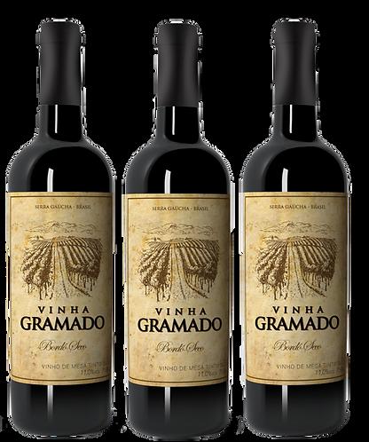 Kit 3 vinhos Vinha Gramado Tinto Seco