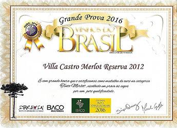 Premiação Villa Castro Reserva Merlot