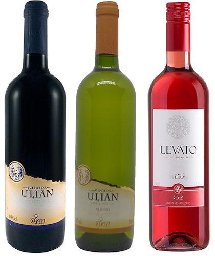 Kit 3 Vinhos Secos Ulian Serra Gaúcha