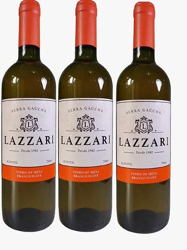 Kit 3 Vinhos Lazzari Branco Suave