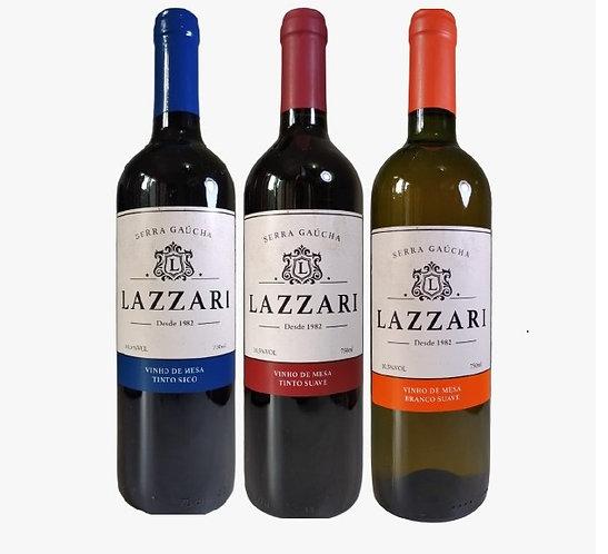Kit 3 Vinhos Lazzari Serra Gaúcha