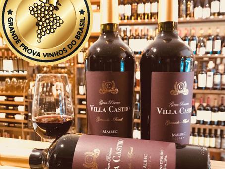 Villa Castro é 2 vezes medalha de Ouro na Grande Prova de Vinhos do Brasil 2018