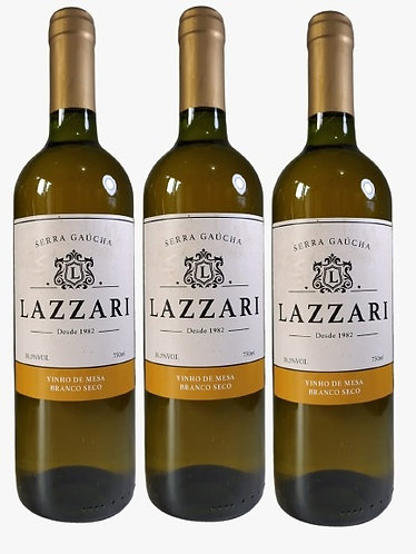 Kit 3 Vinhos Lazzari Branco Seco