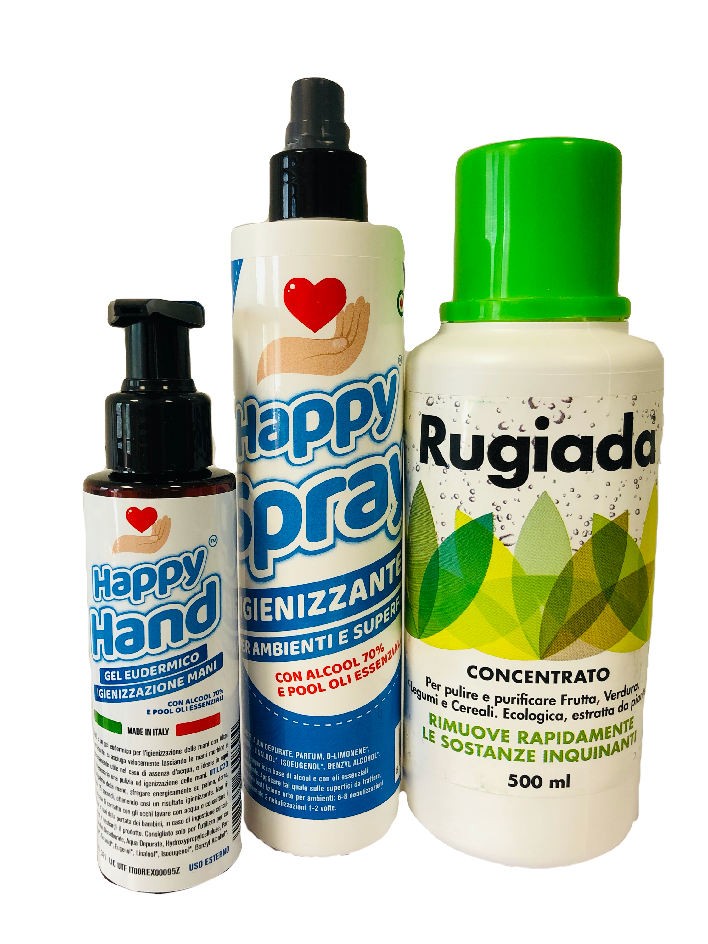 Rugiada, Happy Spray, Happy Hand