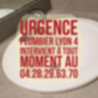 Urgence Plombier Lyon 4
