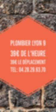 Plombier lyon 9