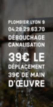 Plombier Lyon 9 Débouchage canalisation
