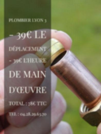 Plombier Lyon 3