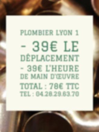 Plombier Lyon 1