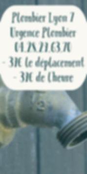 plombier lyon 7 urgence plombier