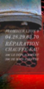 Plombier lyon 9 reparation chauffe-eau