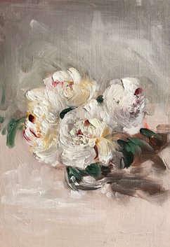 White Peonies in a Glass (2019)