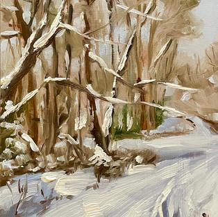 "Walking Through Snow (5""x7"")"